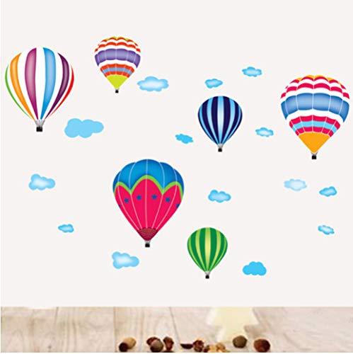Dibujos animados globo aerostático pegatinas de pared habitación infantil jardín de infantes protección del medio ambiente DIY arte vinilo mural pegatinas 116 * 82 cm