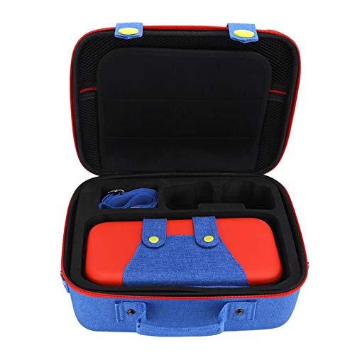Bolsa de transporte para Nintendo Switch, bolsa de almacenamiento multifuncional para máquinas tragamonedas Paquete de protección Eva grande/pequeña para Switch (rojo y azul)