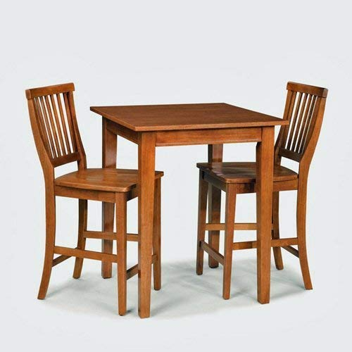 Home Style Arts and Crafts 3-Piece Bistro Set, Cottage Oak Finish