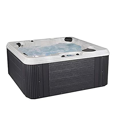 Essential Hot Tubs 50-Jets 2021 Polara Hot Tub, Seats 5-6, Gray