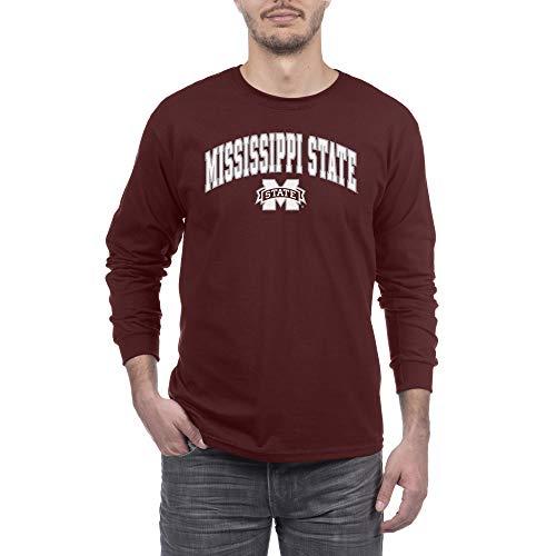 Elite Fan Shop NCAA Herren Langarmshirt, Herren, Team Color Arch Long Sleeve Shirt, Mississippi State Bulldogs Kastanienbraun, X-Large