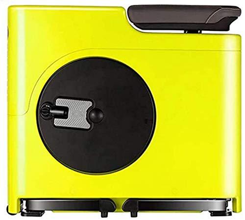 XHCP Bicicleta estática, Bicicleta giratoria Plegable, Bicicleta magnética, 8 Niveles de Resistencia Ajustables, Sillín y Manillar Ajustables, Ligero y Que Ahorra Espacio, Amarillo