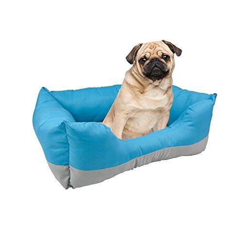 Fancy Pets Cama Rectangular, color Azul/Gris
