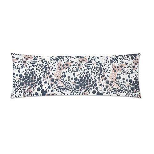 CiCiDi Body Pillow Case 5ft(50cm X 150cm) Spotted Animal Print Body Pillowcase Soft Cotton Machine Washable with Zippers Maternity/Pregnancy Pillow Cover