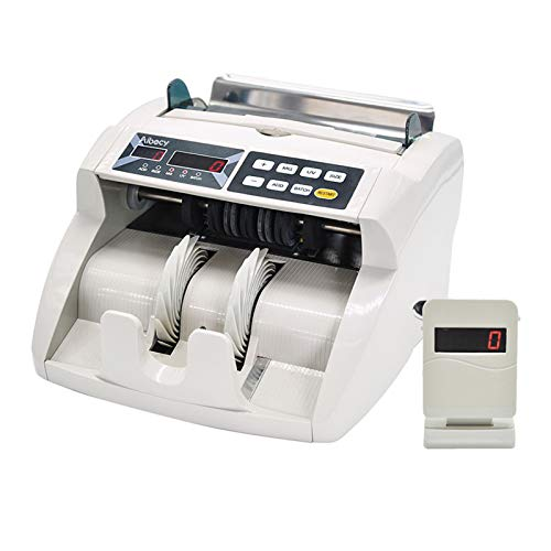 Festnight Desktop Multi-Moneda automática de billetes en efectivo Money Bill Contadora de contadores Pantalla LED con U-V MG Detector de falsificación Pantalla externa para EURO USD GBP AUD JPY