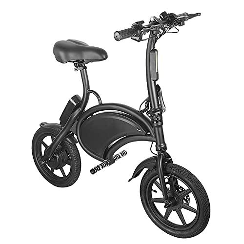 Bicicletta elettrica pieghevole da 14 pollici - Bicicletta elettrica impermeabile da 350 W 36 V con portata di 15 miglia, telaio pieghevole.
