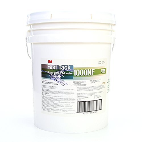 3M Fast Tack Water Based Adhesive 1000NF, Neutral, 5 Gallon Drum (Pail)