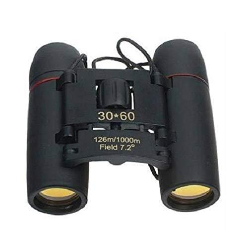 PROTOS INDIA.NET ™ Binocular for Long Distance 30 * 60 Folding Binocular Lightweight Pocket Size Waterproof Foldable Binocular for Bird Watching Travel Compact Mini Binoculars with Neck Strap