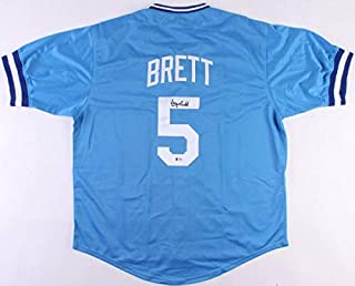 George Brett Autographed Signed Royals Jersey Beckett Coa 13 All-Star 1976 1988 3Rd Base