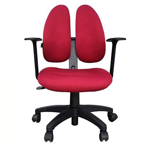 LXDYZ Chaise de Bureau - Extra Large Mid Back Respirant Bureau Mesh Bureau Bureau d'ordinateur Chaise avec Soutien Lombaire Rouge