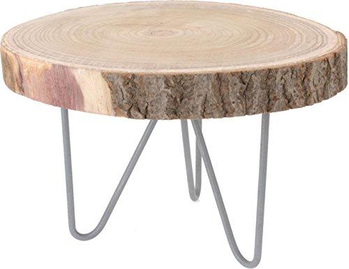 Rustieke massief houten bijzettafel - houten tafel van boomschijf - salontafel