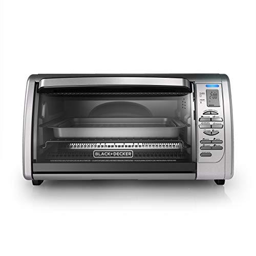 BLACK+DECKER 02648008504 Countertop Convection Toaster Oven, Silver, CTO6335S