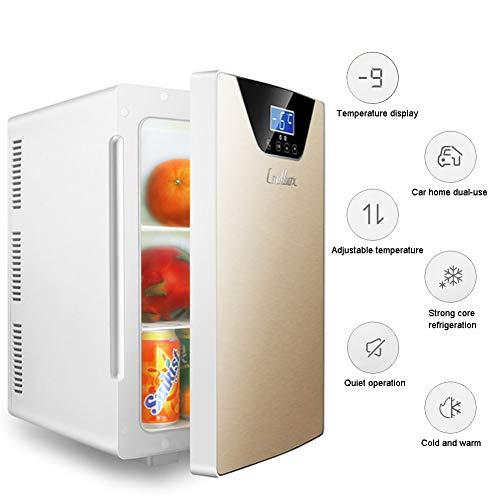 LHY Getränkekühler - Minibar, DREI-Kern-Kühl- Und Heizsystem Kühlschrank, -9-65°C, Nur 30 Db, 20 L, Umweltfreundlich [Energieklasse A+],Gold