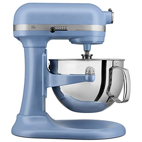 KITCHENAID KP26M1XVB Professional 600 Stand Mixers, 6 quart, Matte Velvet Blue (Renewed)