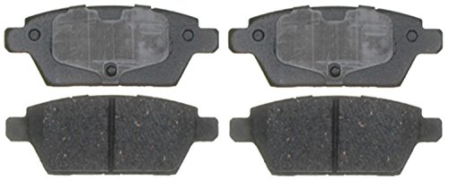 ACDelco Silver 14D1161CH Ceramic Rear Disc Brake Pad Set with Hardware