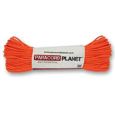 PARACORD PLANET 425RB Nylon Fiber 3mm Diameter Tactical Utility Cord in Multiple Colors (Neon Orange, 50 Feet)
