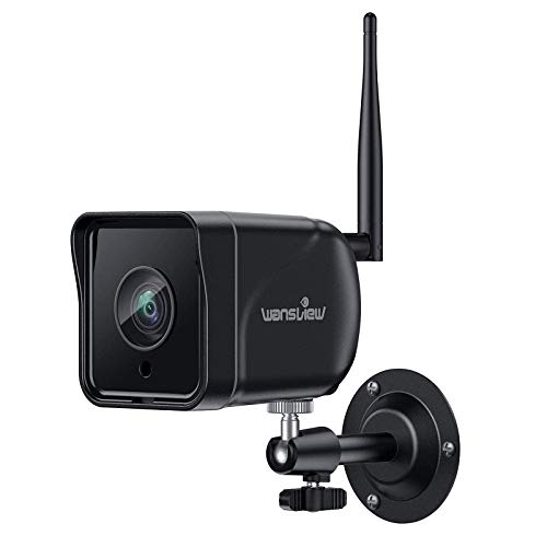 Wansview Cámara Vigilancia WiFi Exterior, 1080P Cámara IP WiFi de Seguridad con Visión Noturna Detección de Movimiento Audio Bidireccional, Soporta Alexa RTSP Onvif, IP66 Impermeable, W6 (Negro)
