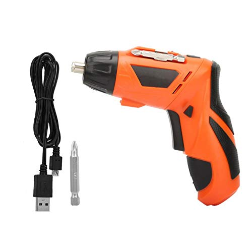 Electric Screwdriver, Screw Gun, USB Rechargeable Multifunctional Portable Professional Exquisite LED Lighting Maintenance Repairing for Home Professionals