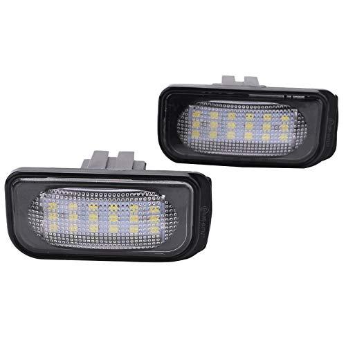 Senmubery Sin Error Base de Luz de La Placa de Matrícula para W203 4D Sedan Lámpara de Número Auto No Flash
