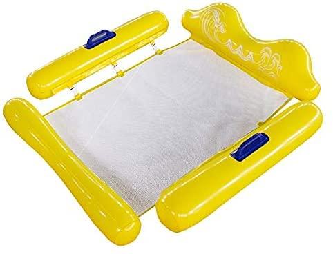 Queta Hamaca flotante Inflable Silla balsa reclinable hinchable piscina Cama flotante reclinable inflable con respaldo flotante Tumbona Inflable de agua para adultos y niños