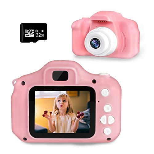 Cámara Digital para Niños, SZREDU 1080P 2.0' HD Video Cámara Infantil,Regalos Ideales para Niños y Niñas de 3 4 5 6 7 8 9 Años, con Tarjeta TF 32 GB