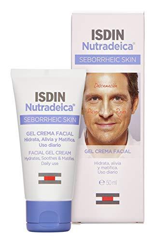 Nutradeica - Gel-crema facial indicado para el tratamiento del exceso de sebo, descamación, picor y eritema de la piel seborreica facial, 50 ml
