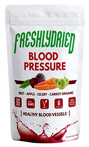 FreshlyDried Pure Blood Pressure Mix Powder - 6 Ounces, Best Superfood to Support Blood Flow - Rich in Vitamins, Minerals & Protein - Non-Irradiated, Non-Contaminated, Non-GMO and Vegan Friendly