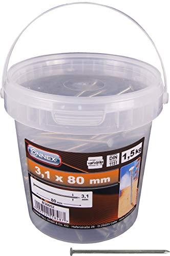CONNEX B30052 - Clavo, 3.1 x 80 mm 1 kg