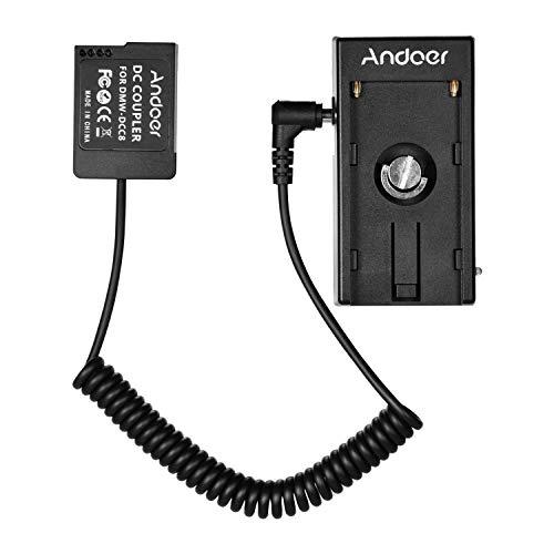 Andoer NP-W126 Dummy - Acoplador de batería con cable de resorte y soporte de batería NP-F970 F750 para cámaras Fuji X-A1/X-A2/X-A3/X-E1/X-E2/X-M1/X-Pro/X-T1/X-T2/X-T10/HS33EXR/HS35EXR/HS50EXR