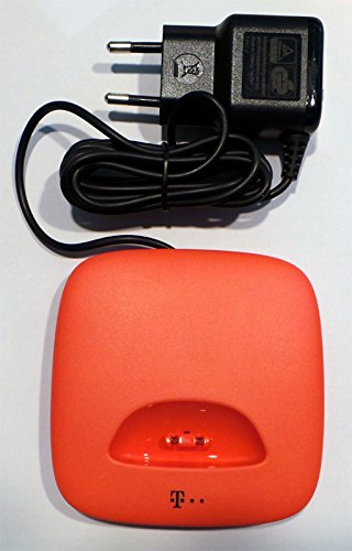 Telekom T-COM Ladeschale / Charger für SPEEDPHONE 10 koralle