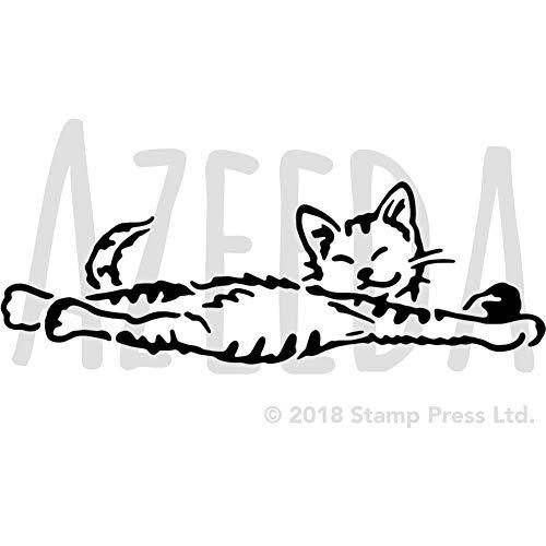 A4 'Dehnung Katze' Wandschablone / Vorlage (WS00035575)