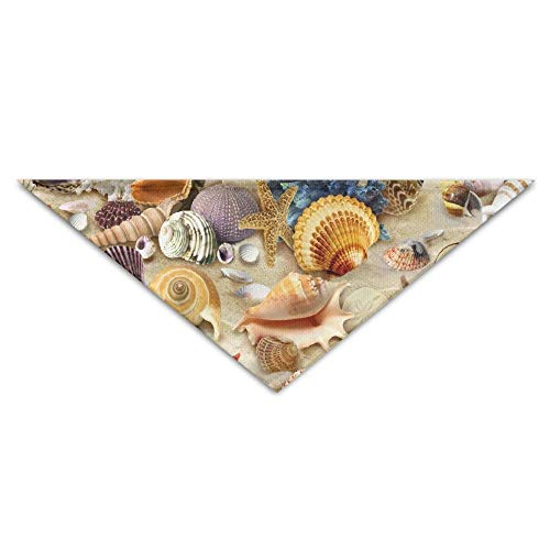Beautiful Colorful Marine Shells Turban Triangle Scarf Bib Scarf Accessories Pet Cat and Baby Puppy Saliva Dog Towel
