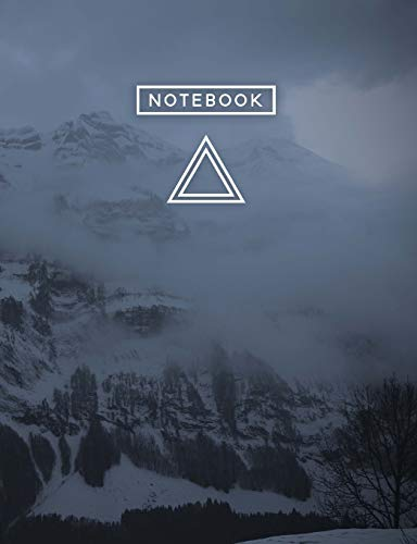 Aesthetic Art Journaling: Light Weight Mountain Hiking Composition Book | 150 College Ruled Pages | Obscure Mountain Snow