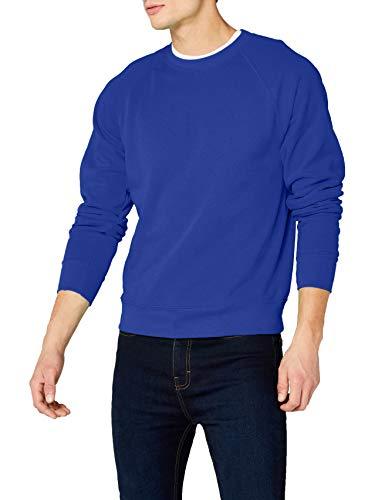 Fruit of the Loom Raglan Sweatshirt, Felpa Uomo, Blu (Blau - Königsblau), Large