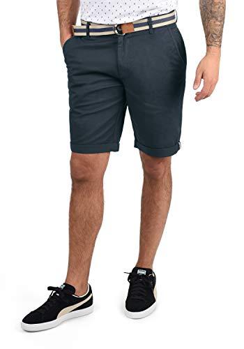 !Solid Monty Herren Chino Shorts Bermuda Kurze Hose Mit Gürtel Aus Stretch-Material Regular-Fit, Größe:M, Farbe:Insignia Blue (1991)