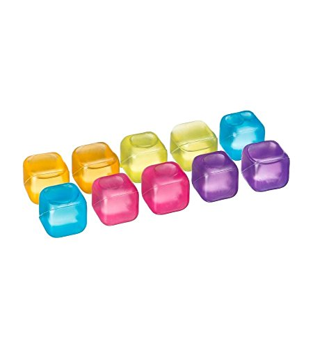 JJA 115005 Glacons Réutilisables, Plastique, Multicolore, 1 x 1 x 1 cm