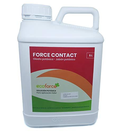 CULTIVERS Jabón Potásico BIO de 5 L. Actúa por Contacto. Multiple usos, Solución Potásica 100% Natural Protección para tus Plantas, Mejora las defensas de las plantas.