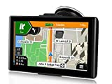 Sat Nav, 7 Inch GPS Navigation Unit for Cars,Trucks & Lorries. Postcode Search, POI Speed Cam Alerts, Lane Assist Guidance, Pre-installed 2021 UK, Ireland & Europe Maps with Free Lifetime Map Updates