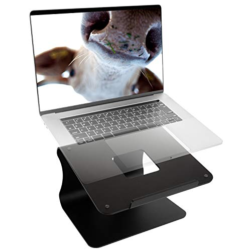 Laptop Stand Ergonomic Aluminium MacBook Stand, Laptop Riser Notebook Holder Stand Compatible with MacBook Air Pro, Dell XPS, Lenovo More 10-15.9'