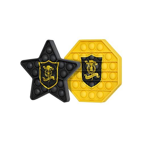 FOCO Livingston FC Football EPL League One Championship 2 Pack Hexagon & Star Push-Itz FidgetPush Pop Bubble Sensor Toy Craze