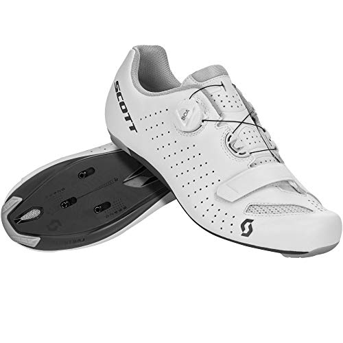SCOTT 251817, Scarpa Ciclismo Uomo, White/Black, 41.0