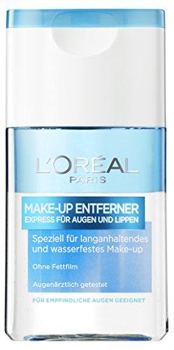 L\'Oréal Paris Make-up-Entferner, speziell für wasserfestes und langanhaltendes Make-up, für empfindliche Augen geeignet, 125 ml