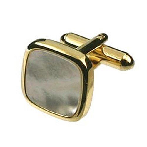 Boutons de manchettes Boutons de manchette carrés or Pearl~Mother of Pearl Cufflinks Sélectionner Pochette Cadeau