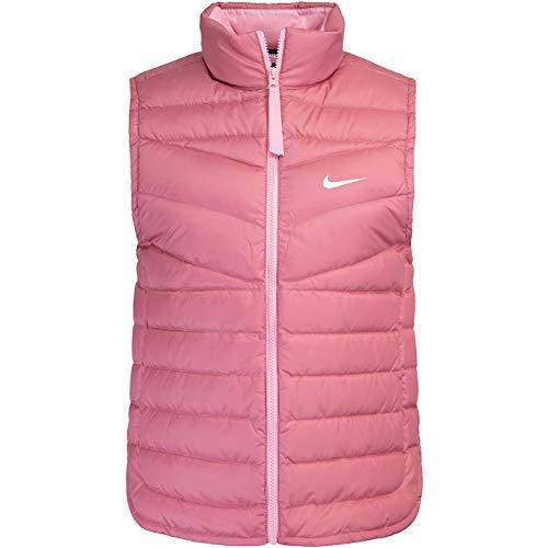 Nike Down Women Vest - Chaleco para mujer, talla L, color berry/blanco
