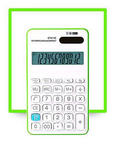 ZUEN Bunter grundlegender Taschenrechner 12-Bit-Anzeige Solarbetriebener elektronischer Taschenrechner,C