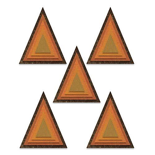 Sizzix Thinlits Stanzform 25er Pack 664748 gestapelte Fliesen Dreiecke von Tim Holtz