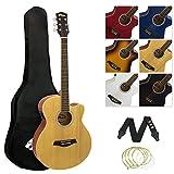 Tiger Claw Music ACG4-NT - Guitarra electroacústica (tilo), color natural, completo