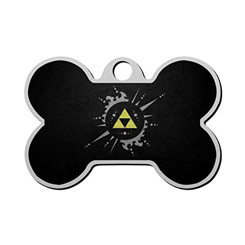 The Legend of Zelda Pet Tag - Bone Shaped Dog Tag & Cat Tags Pet ID Tag Personalized Custom Your Pet's Name & Number 3D Printing