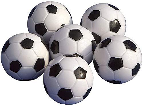 Mini fútbol,Mini futbolín, Mini futbolín, 6 Piezas de futbolín Bolas de futbolín Blanco y Negro