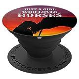 Just Girl Who Loves Horses Pferde Geschenk Mädchen Teenager - PopSockets Ausziehbarer Sockel & Handgriff für Smartphones & Tablets